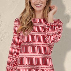 Chloe Dress in Red Print